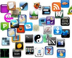 montage of apps